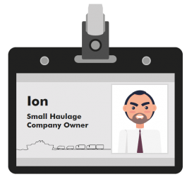 Ion small haulage company owner