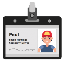 Paul small haulage company driver