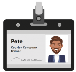 Pete courier company owner