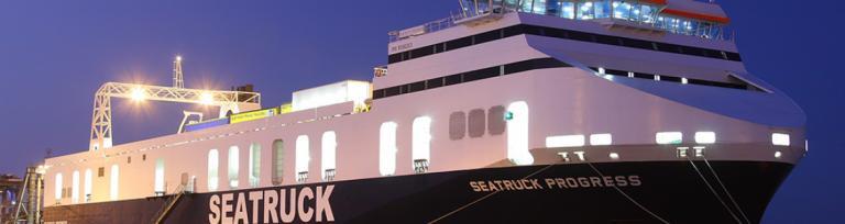 Exemplu a unui feribot Seatruck