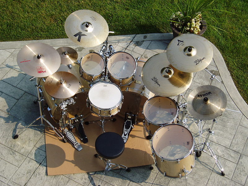 Image of 7 piece Drum Kit which can be difficult to transport abroad for an event