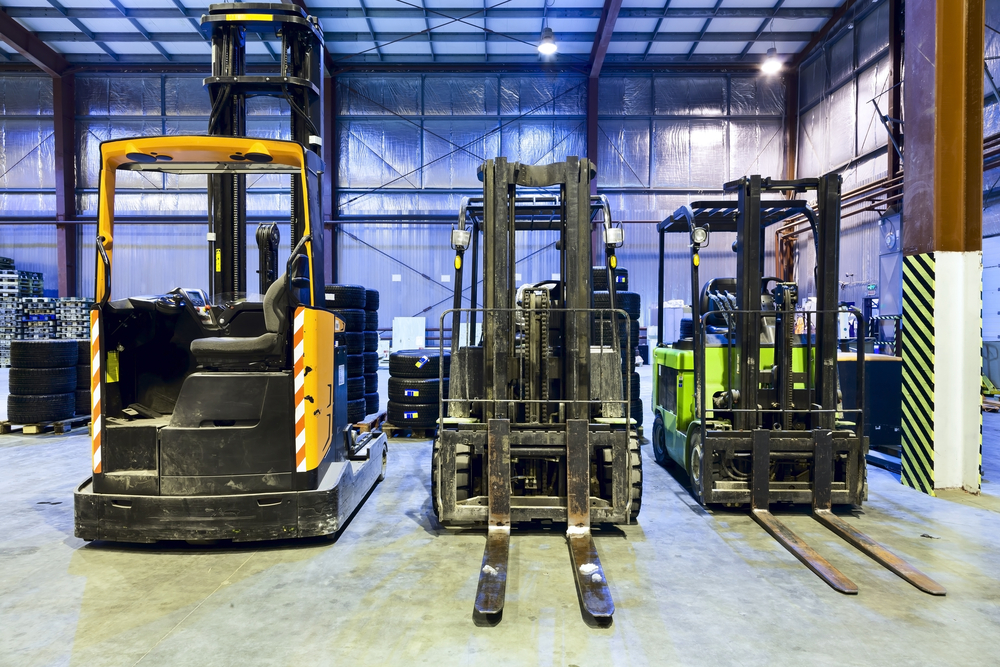 types of forklift truck for transporting via freight ferry