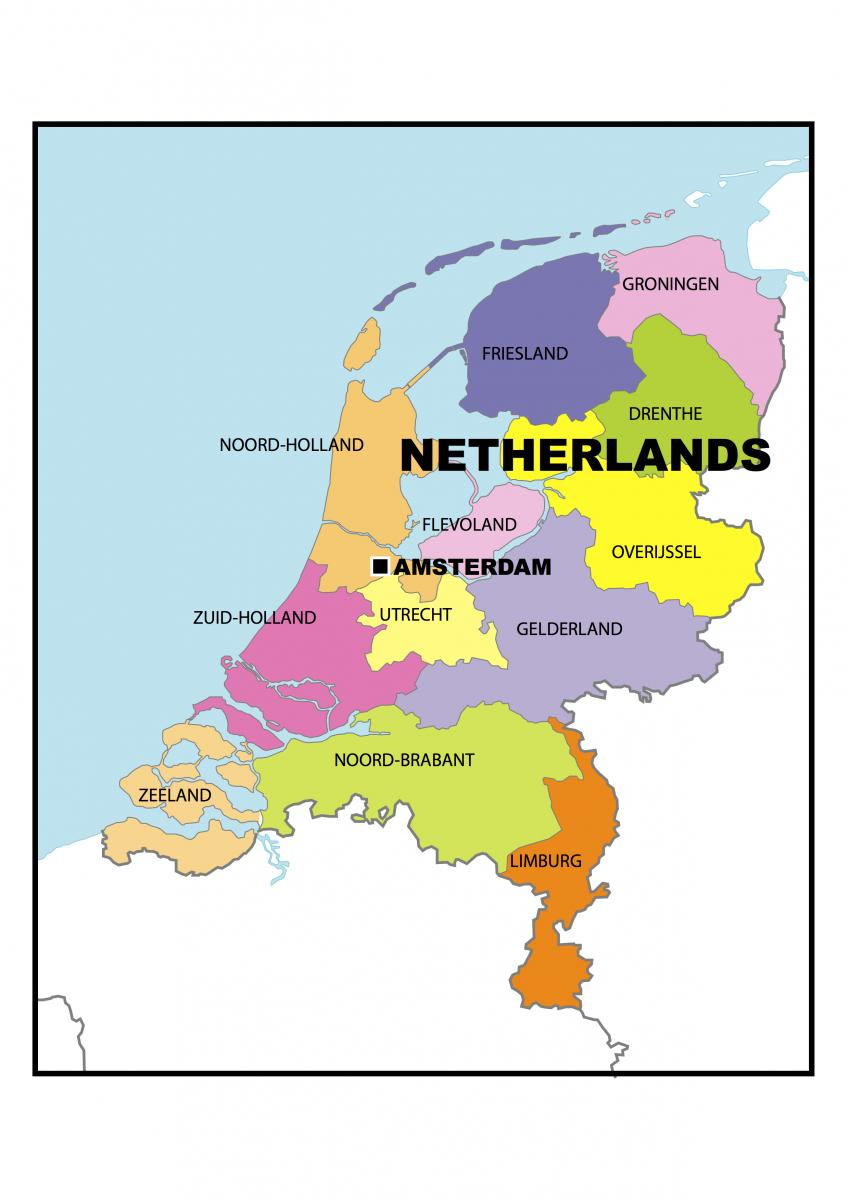 Map of Netherlands Country Guide for freight ferries